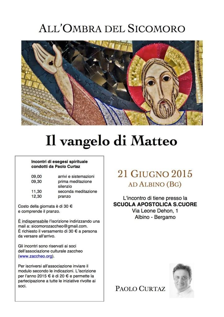 All'ombra del Sicomoro - Giugno 2015 @ Scuola Apostolica del Sacro Cuore di Albino | Albino | Lombardia | Italia